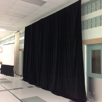 Black Drape 12 feet tall